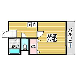 ロイヤルハイツ苅田[4階]の間取り