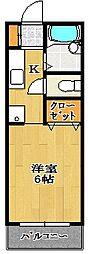 サンライズ[1階]の間取り