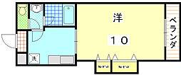 ハイツSAWARAGI[106号室]の間取り