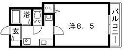 大阪府大阪市東住吉区住道矢田1丁目の賃貸マンションの間取り