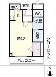 ハイムK・C[1階]の間取り