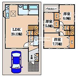 [一戸建] 大阪府松原市天美我堂6丁目 の賃貸【/】の間取り