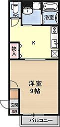 フローラル川田[101号室号室]の間取り