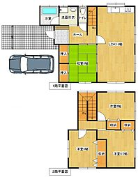 [一戸建] 福岡県福岡市南区老司2丁目 の賃貸【/】の間取り