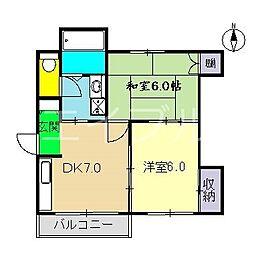 リバース桜井[3階]の間取り
