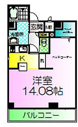 マメゾンサンライズ浜寺[2階]の間取り