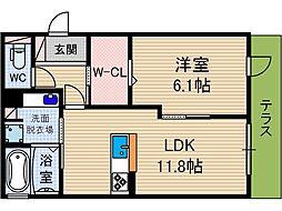 メディオ総持寺[1階]の間取り