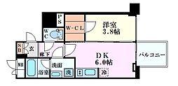 レオンコンフォート本町橋 5階1DKの間取り