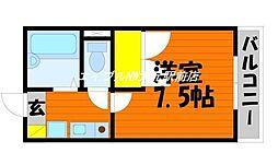 レオパレスNATUKAWA[2階]の間取り