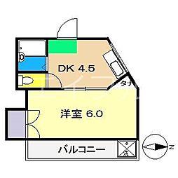 ホワイトルージュ[4階]の間取り