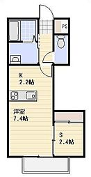 埼玉県川口市金山町の賃貸アパートの間取り