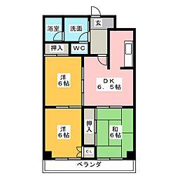 日の丸第1ビル[1階]の間取り