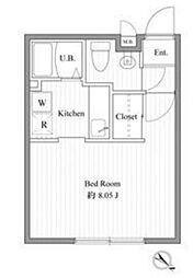 ZESTY西新宿III 初台のデザイナーズマンション ゆった[4階]の間取り