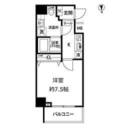 プレール・ドゥーク亀戸水神駅前[4階]の間取り