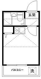 コーポマリーナ南千束[1階]の間取り