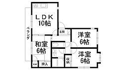 メゾン新家A[0103号室]の間取り