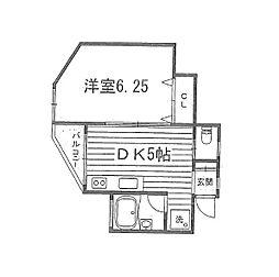 コーポ中川[2階]の間取り