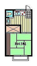 アパート三景[2階]の間取り