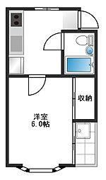 東京都練馬区旭丘2丁目の賃貸アパートの間取り