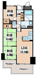 藤和ライブタウン四条畷[3階]の間取り
