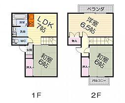 大阪府堺市堺区東上野芝町1丁の賃貸マンションの間取り