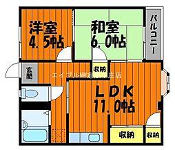 サンホーム八王寺[1階]の間取り