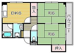 阪口マンション[2階]の間取り