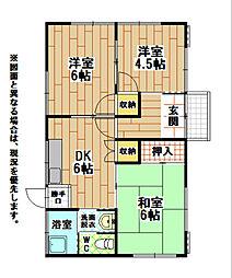 [一戸建] 福岡県北九州市小倉南区南方1丁目 の賃貸【/】の間取り