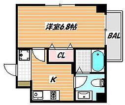 JR京葉線 舞浜駅 徒歩18分の賃貸マンション 3階1Kの間取り