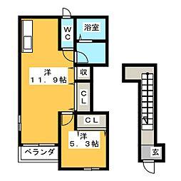 コンクルシオ[2階]の間取り