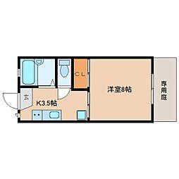 静岡県静岡市葵区二番町の賃貸アパートの間取り