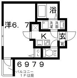 オーシャン青山[102号室号室]の間取り