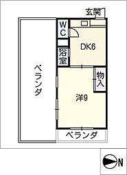 川島第二ビル[5階]の間取り