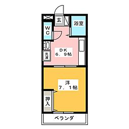 本町アパートI[2階]の間取り