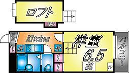兵庫県神戸市灘区岩屋北町4丁目の賃貸アパートの間取り