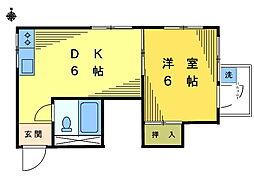 ハイム末広[4−A号室]の間取り