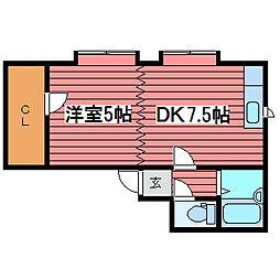サンピア福住1−3[3階]の間取り