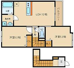 久宝寺3丁目新築アパート(仮)[201号室]の間取り