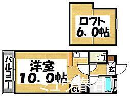 福岡県太宰府市朱雀3丁目の賃貸マンションの間取り