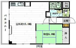 ラルーチェ光南II[4階]の間取り