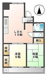 ハイム本山[2階]の間取り