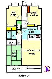 アプロアメニティ富岡 壱番館[210号室]の間取り