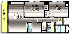 東京都調布市東つつじケ丘1の賃貸マンションの間取り