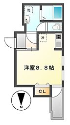 スクエア中村区役所[1階]の間取り