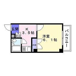 プラザアビコ[3階]の間取り