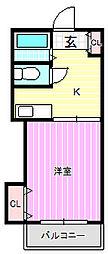 大和田ハイツ[2階]の間取り