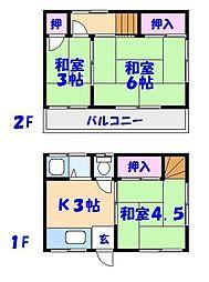 [テラスハウス] 千葉県市川市行徳駅前3丁目 の賃貸【/】の間取り
