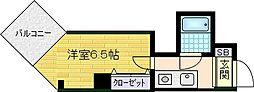 ロータリー天神橋[7階]の間取り