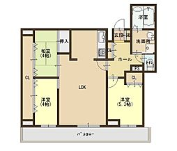 キングマンション心斎橋東[14階]の間取り