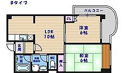 エスポワール住之江公園[9階]の間取り
